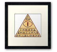 Bill Cipher Decrypt Symbols Framed Print