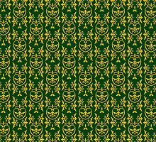 green damask pattern by los-ojos-pardos