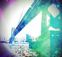 SF Bay Bridge Graphic - Digital Art  by Artsygirl28