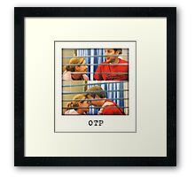 The Office US Jim and Pam Pregnancy  Framed Print