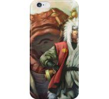 naruto jiraiya and gamabunta iPhone Case/Skin