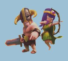 Clash of clans barbarian and archer by Roaldtom