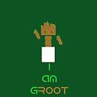 Groot & Android Mashup - (I am gROOT version) by Matthew Ellerington