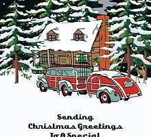 Godmother Sending Christmas Greetings Card by Gear4Gearheads