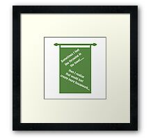 Throwing In The Towel Framed Print