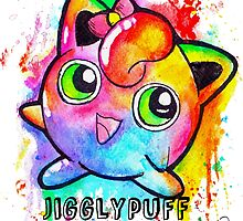 Cute Jigglypuff Watercolor Tshirts + More! by Jonny2may