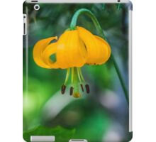 Yellow-Orange Flower with Curling Petals iPad Case/Skin
