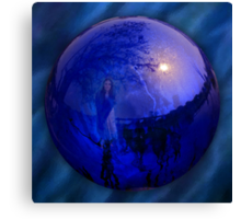 The Gazing Ball Canvas Print