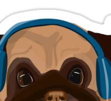 Musical Pug Sticker
