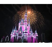 Disney Castle Disney Fireworks Disney Cinderella Disney Sleeping Beauty Photographic Print