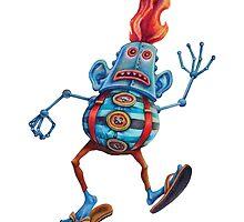 Robot Head Man by Byron Rhodes