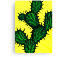 Chinese brush painting - Opuntia cactus. Canvas Print