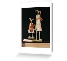 Rabbits on Books Greeting Card