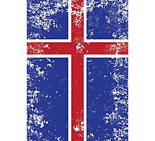 Flag of Iceland Photographic Print