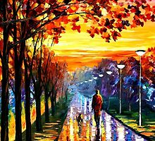 Evening Stroll — Buy Now Link - www.etsy.com/listing/215092855 by Leonid  Afremov