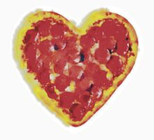 Pizza heart by Rachelyouens