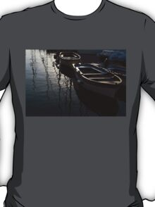 Charming Old Wooden Boats in the Harbor T-Shirt