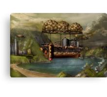 Steampunk - Airship - The original Noah's Ark Canvas Print