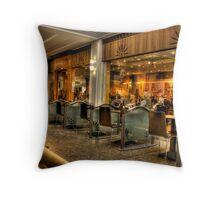 Cafe Culture Throw Pillow