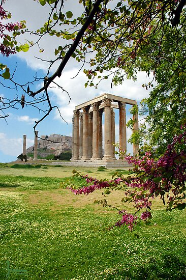 Columns Of The Olympian Zeus by Ioanna Athanasopoulou