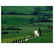 Tuscan biker Photographic Print