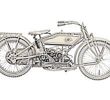 1919 Harley Davidson motorcycle by surgedesigns