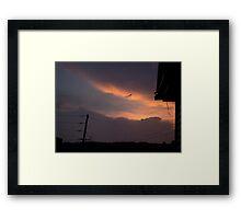 HDR Composite - A Messenger Sky at Sunset Framed Print
