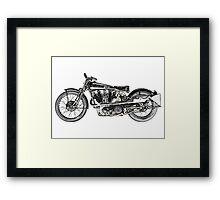 1929 Brough Superior SS100 Framed Print