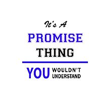 It's a PROMISE thing, you wouldn't understand !! by thestarmaker