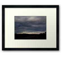 HDR Composite - Blue Sunset Looms Framed Print