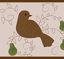 Partridge in a pear tree card by FleurGraphics