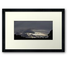 HDR Composite - Evening Clounds and Treeline Framed Print