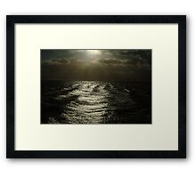 A Storm A'brewin' Framed Print