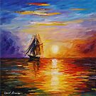 Misty Ship — Buy Now Link - www.etsy.com/listing/215356512 by Leonid  Afremov