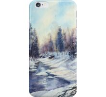 Winter river in the Laurentian Mountains. Quebec iPhone Case/Skin