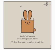 Euclid's Elements Book 1 Prop 46 GeoBunny Kids Clothes