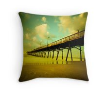peering into the day Throw Pillow