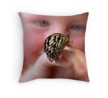 WOW!! A Paper Kite Landed On My Hand! - Paper Kite Butterfly - Dunedin NZ Throw Pillow