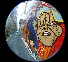 Street art with Fisheye in Melbourne by josha413