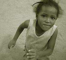 Namibian Girl by J.L. Calder
