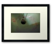 HDR Composite - Sink Dye Horror and Water Framed Print