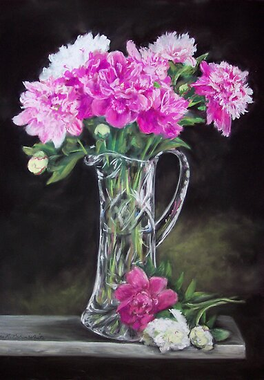 Mom's Peonies by Alice McMahon