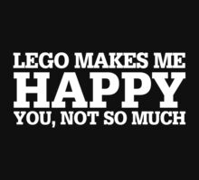Happy Lego T-shirt by musthavetshirts