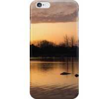 Gloaming - Subtle Pink, Lavender and Orange at the Lake iPhone Case/Skin