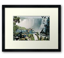 Iguazu in Brazil Framed Print