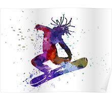 young snowboarder Poster