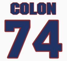 National football player Willie Colon jersey 74 by imsport