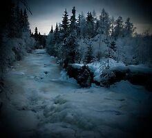 Frozen Waterfall by Robiq