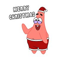 Merry Christmas   Patrick Star by LAZARE-TENDO