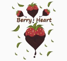 Straw Berry Heart  Kids Clothes